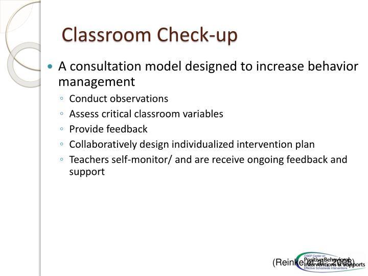Classroom Check-up