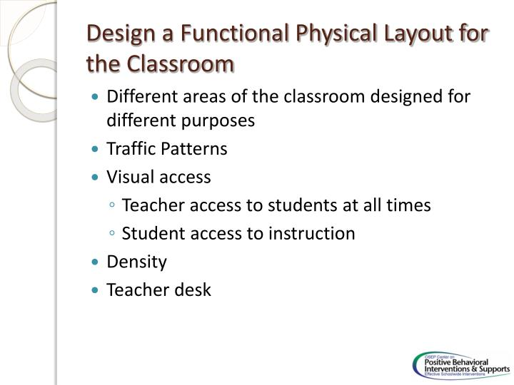 Design a Functional Physical Layout for the Classroom