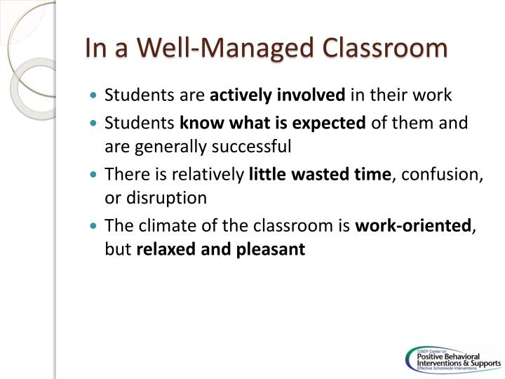 In a Well-Managed Classroom
