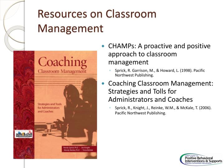 Resources on Classroom Management