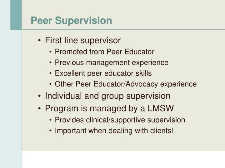 Peer Supervision