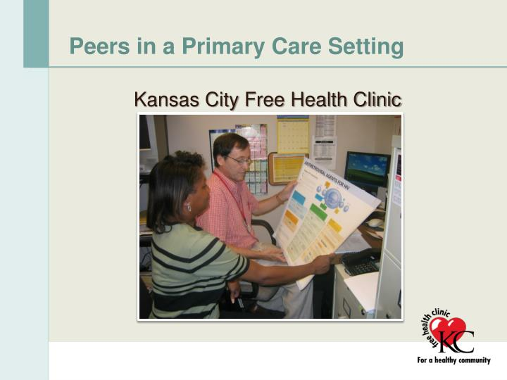 Peers in a Primary Care Setting