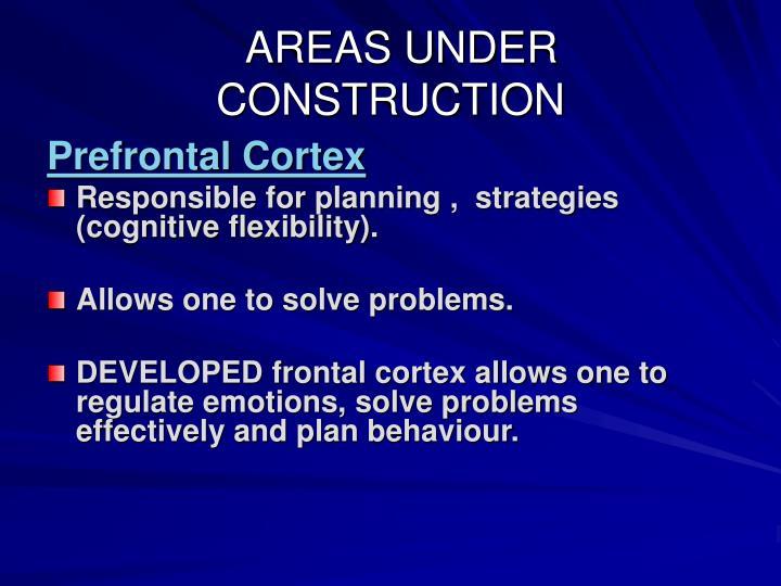 AREAS UNDER CONSTRUCTION