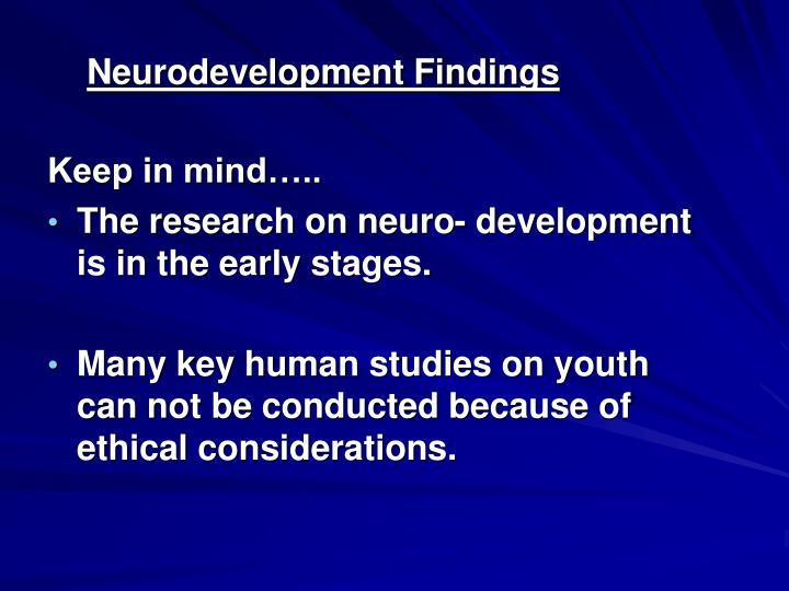 Neurodevelopment Findings