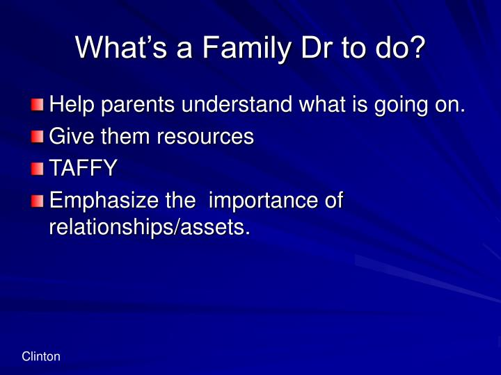What's a Family Dr to do?