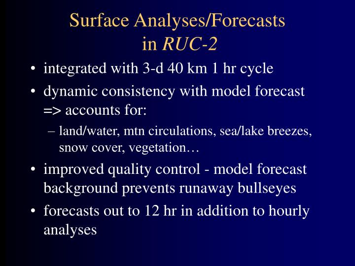 Surface Analyses/Forecasts