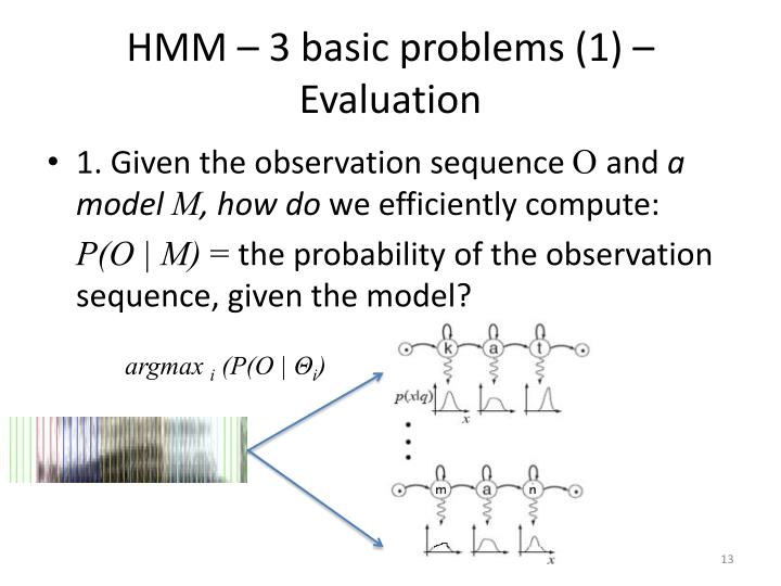 HMM – 3 basic problems (1) – Evaluation