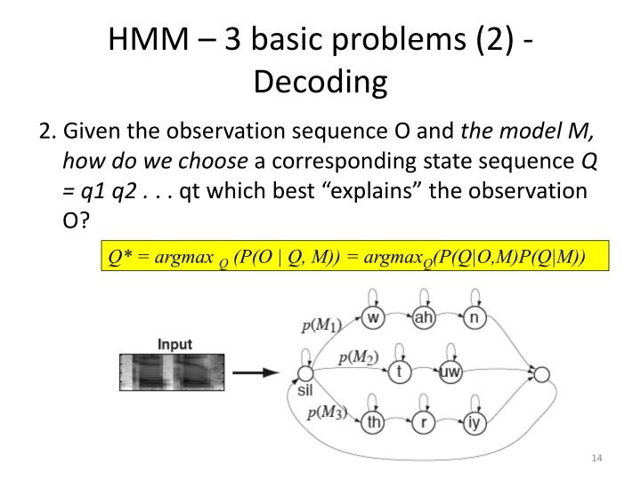 HMM – 3 basic problems (2) - Decoding