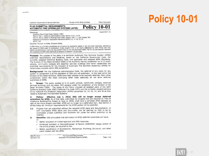 Policy 10-01