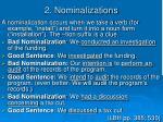 2 nominalizations