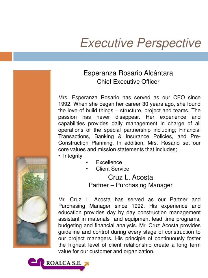 Executive Perspective