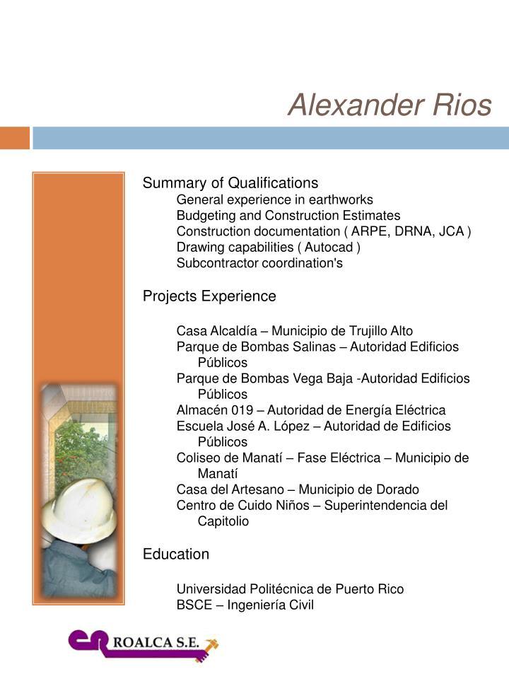 Alexander Rios