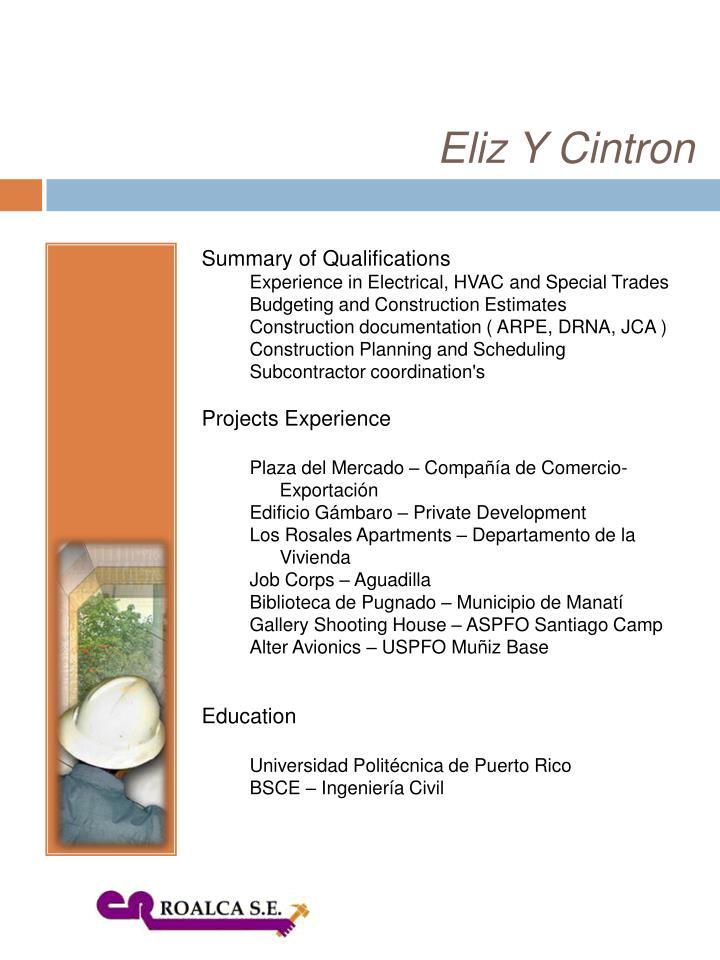 Eliz Y Cintron