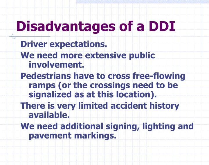 Disadvantages of a DDI