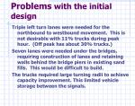 problems with the initial design1