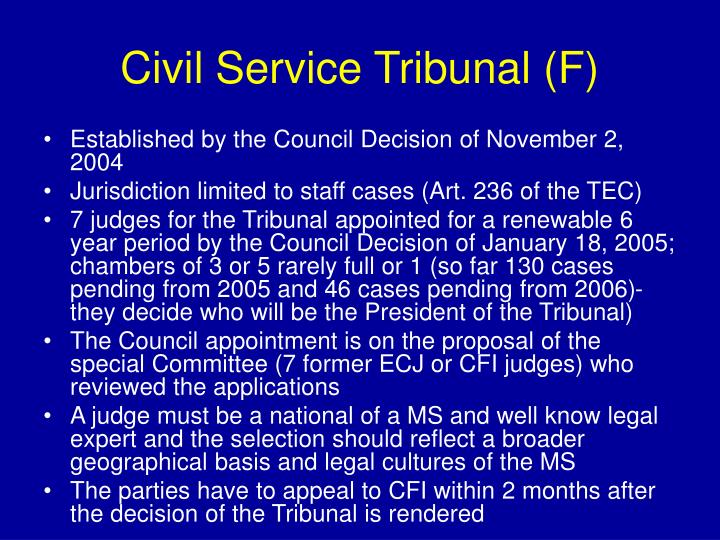 Civil Service Tribunal (F)