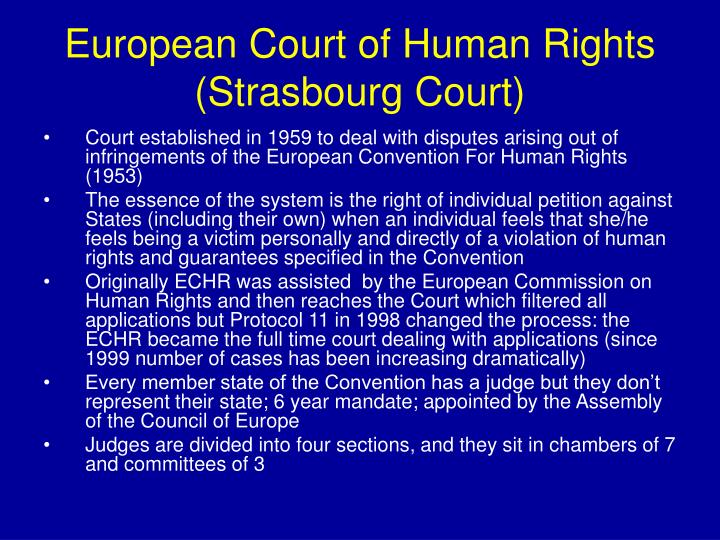 European Court of Human Rights (Strasbourg Court)