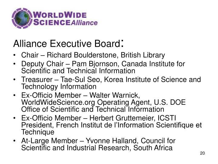 Alliance Executive Board