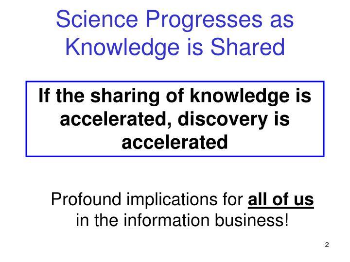 Science Progresses as