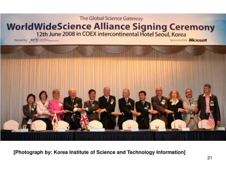 [Photograph by: Korea Institute of Science and Technology Information]