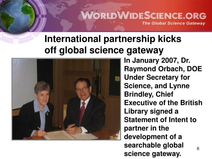 International partnership kicks off global science gateway