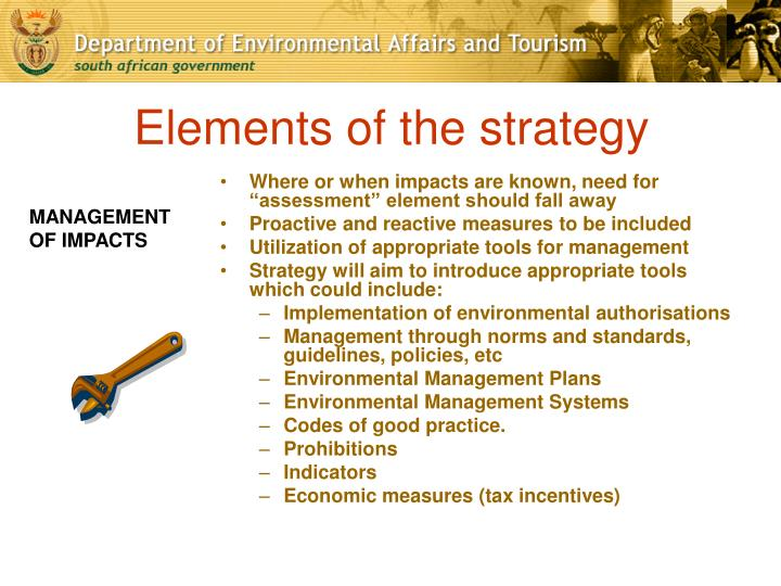 Elements of the strategy