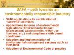 safa path towards an environmentally responsible industry1