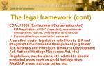 the legal framework cont
