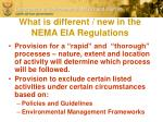 what is different new in the nema eia regulations