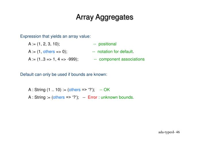 Array Aggregates