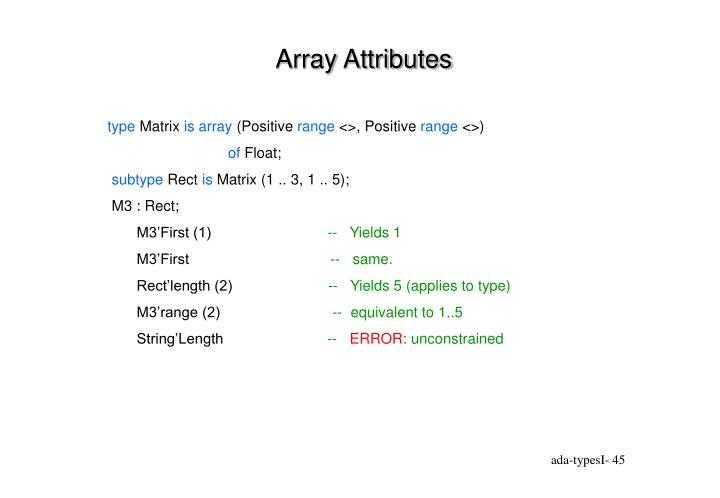 Array Attributes