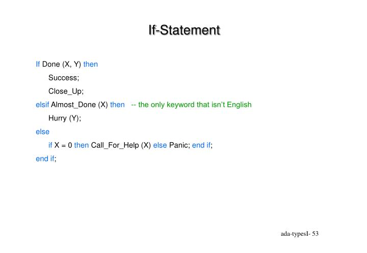 If-Statement