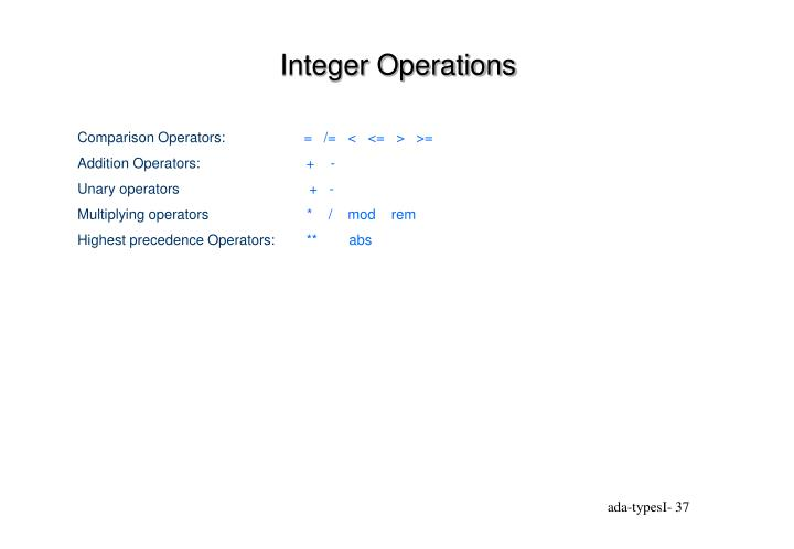 Integer Operations