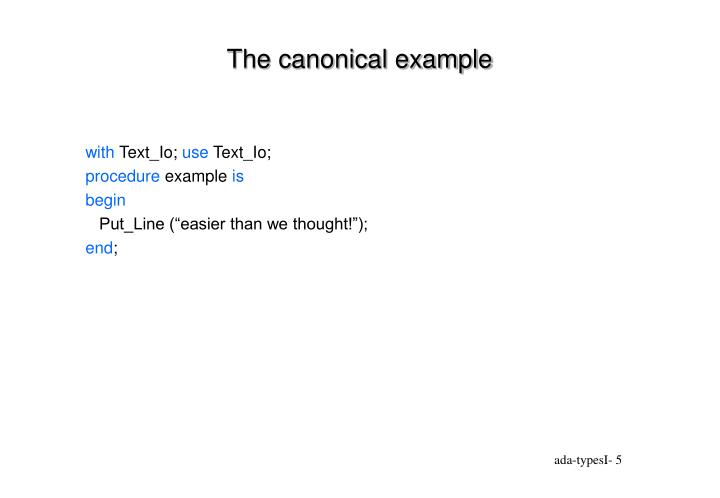The canonical example