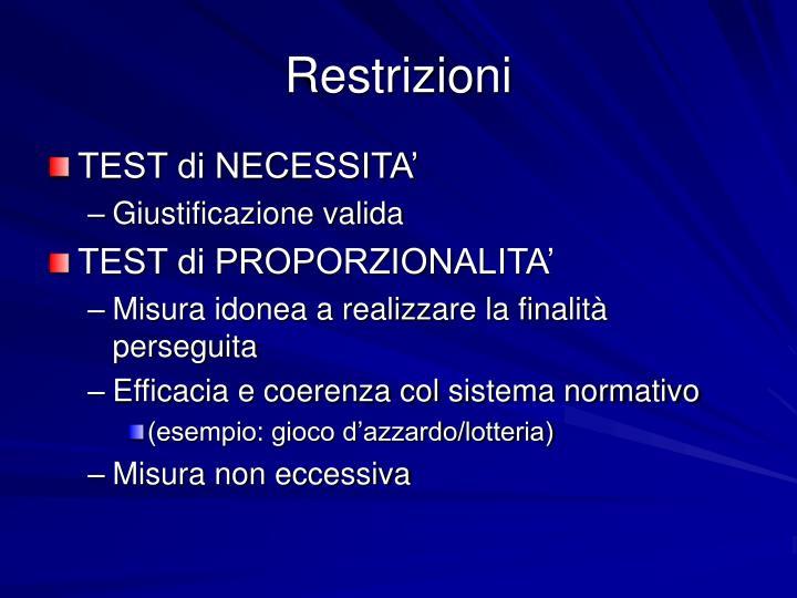 Restrizioni