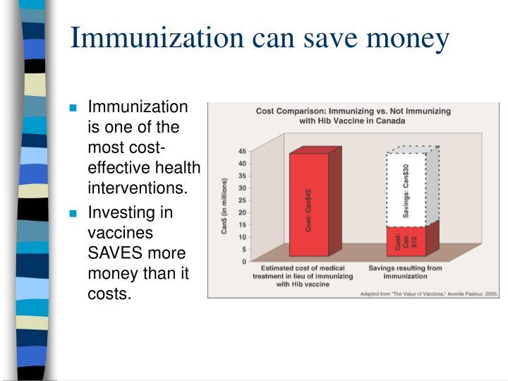 Immunization can save money