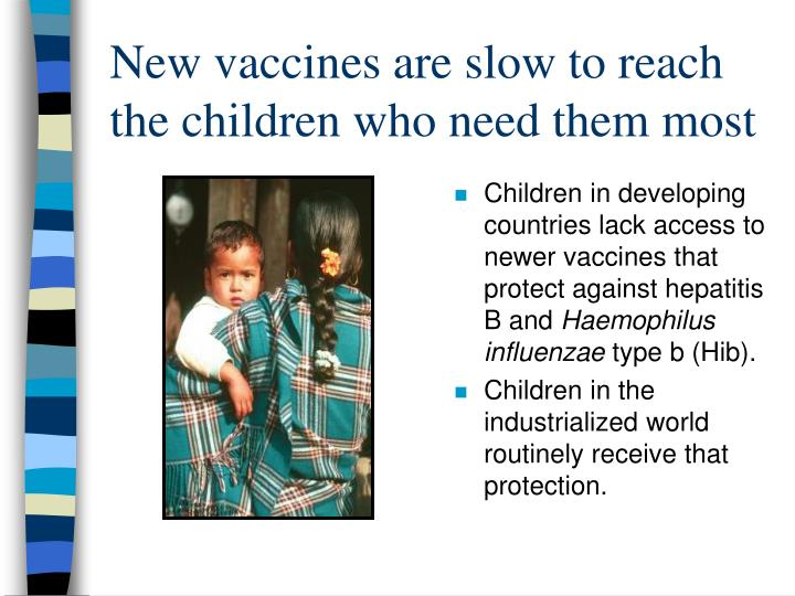 New vaccines are slow to reach the children who need them most