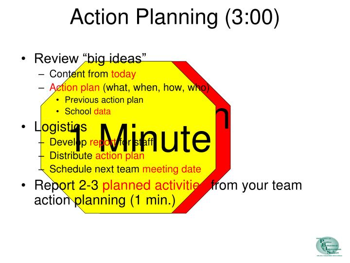 Action Planning (3:00)