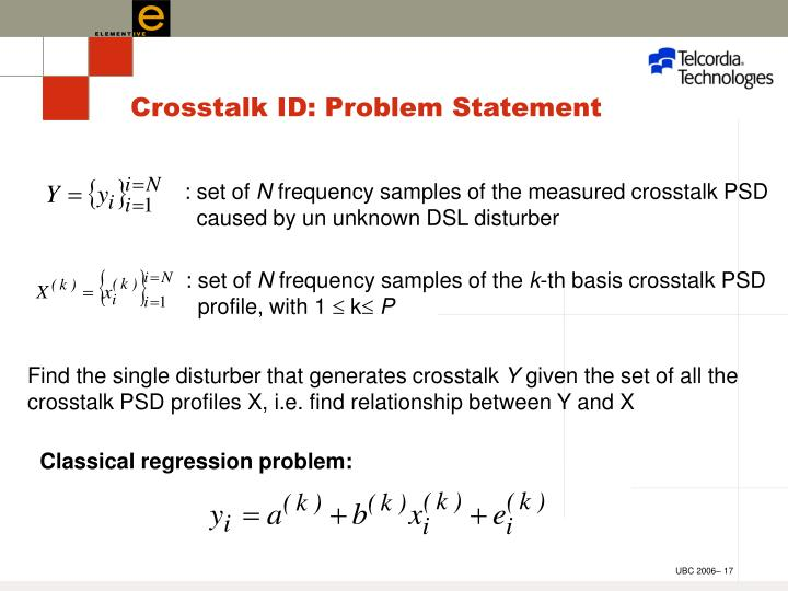 Crosstalk ID: Problem Statement