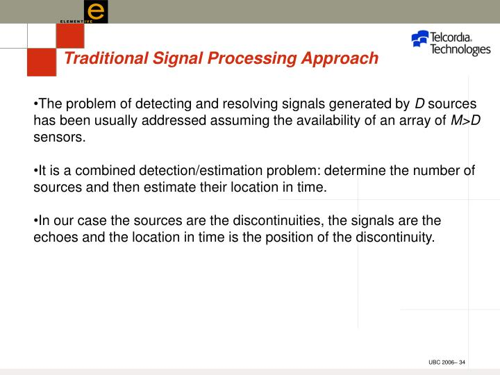 Traditional Signal Processing Approach