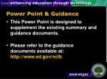 power point guidance