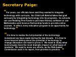 secretary paige