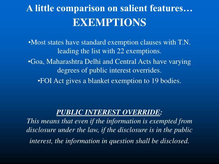 A little comparison on salient features…