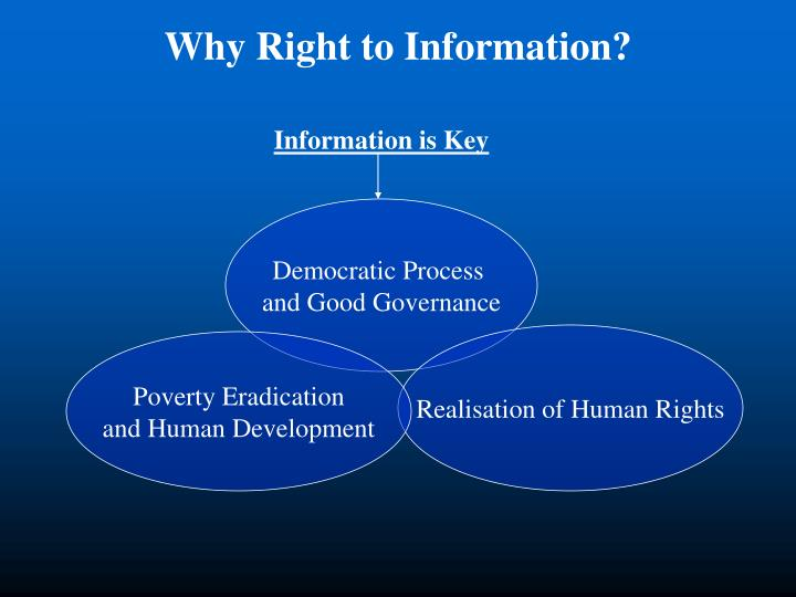 Why Right to Information?