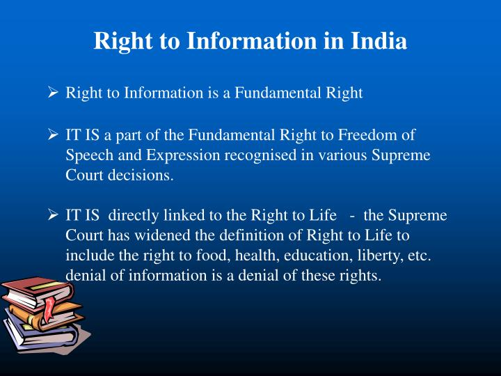 Right to Information in India