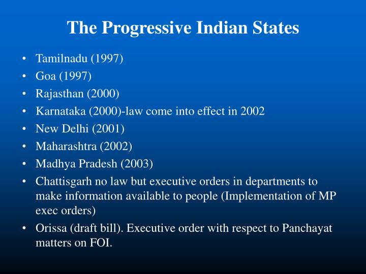 The Progressive Indian States