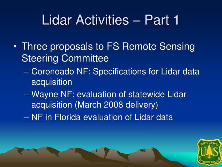 Lidar Activities – Part 1