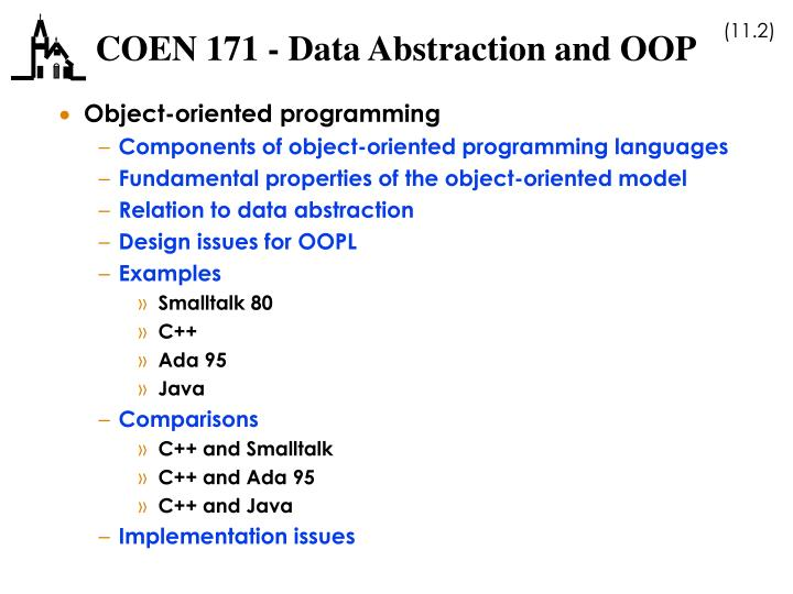 Coen 171 data abstraction and oop1