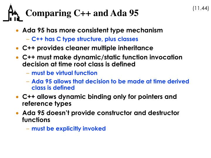 Comparing C++ and Ada 95
