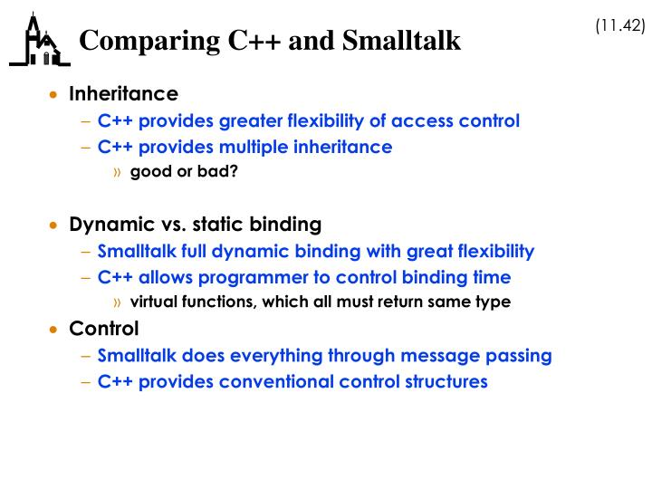 Comparing C++ and Smalltalk